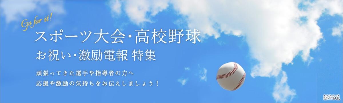 スポーツ大会・高校野球の選手や指導者の方へ応援や激励の気持ちを伝えるお祝い・激励電報特集