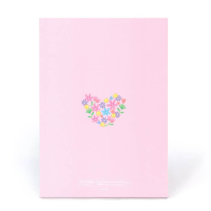 上質でなめらかな手触りのやさしいピンクのカードです