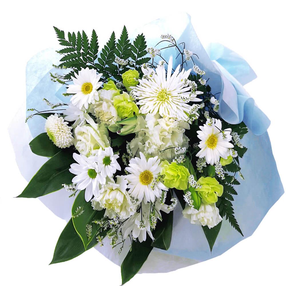 お悔やみ・ご葬儀、法要の弔電に最適なお供えフラワー「お供え花束リスペクト」