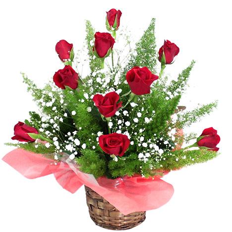 「真紅のバラのアレンジ」