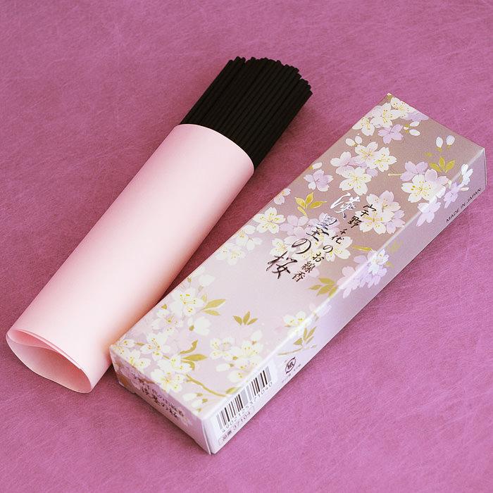 桜を愛した女流作家・宇野千代のお線香です