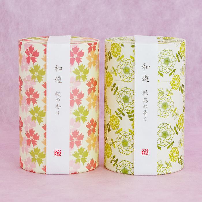 デザイン性の高い和モダン柄の筒箱が特徴です