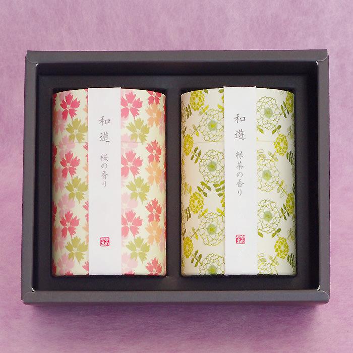上品で優しい「桜の香り」、香ばしく清清しい「緑茶の香り」