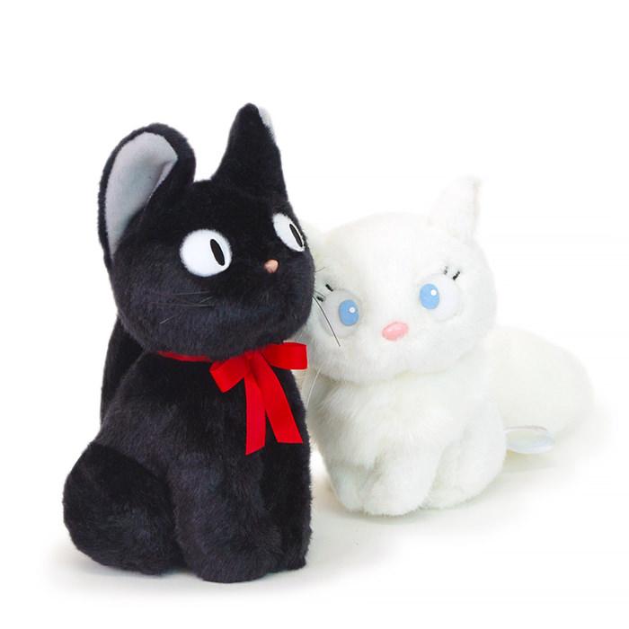 黒猫ジジと白猫リリーのカップルぬいぐるみ
