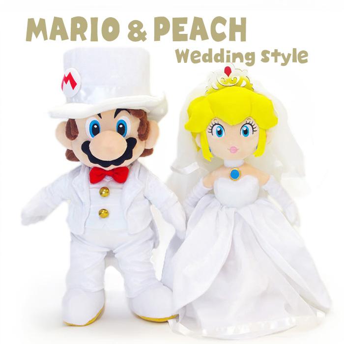 結婚祝い・ウェルカムドールにオススメのぬいぐるみ「マリオ&ピーチ ウェディングスタイル」