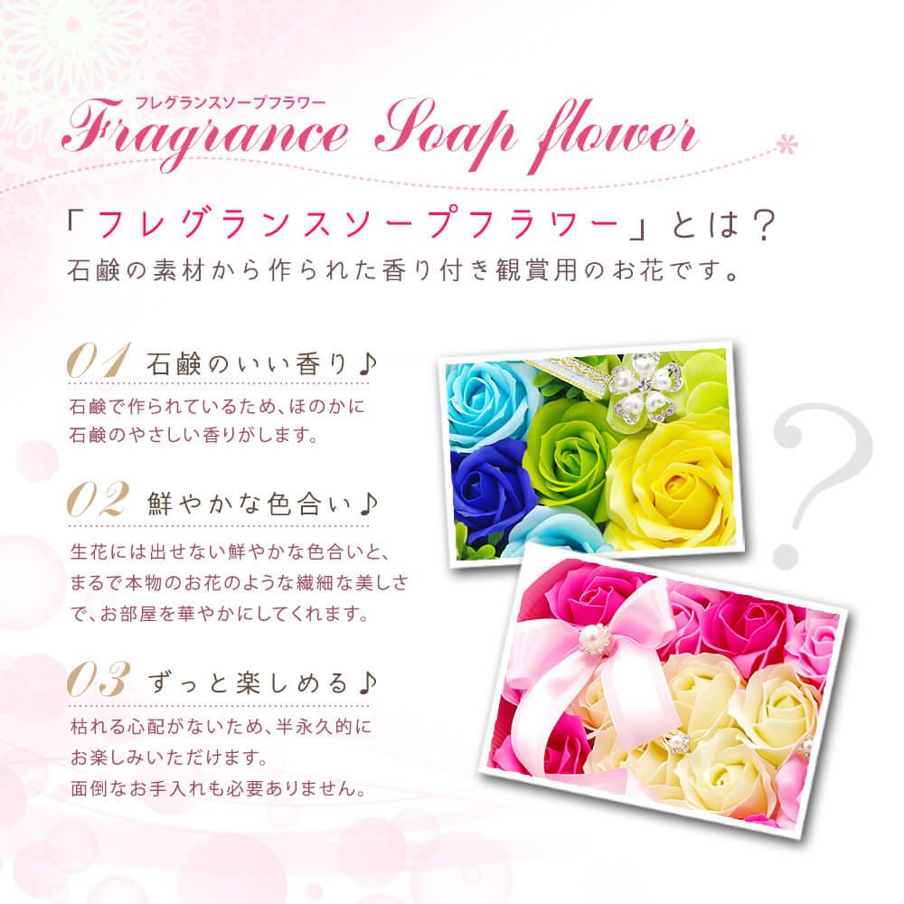 フレグランスソープフラワーとは石鹸の素材から作られた観賞用のお花です。