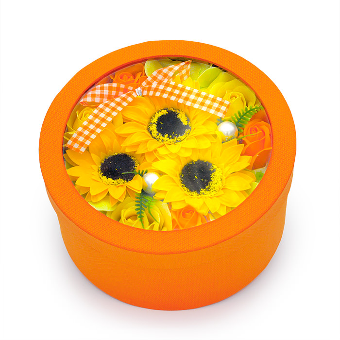 元気いっぱいの明るいアレンジです
