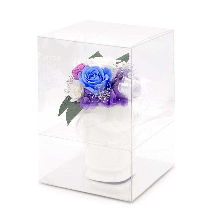 手入れが不要で瑞々しさが長持ちするプリザーブドフラワーですので、お仏壇のお供え花としてもお勧め