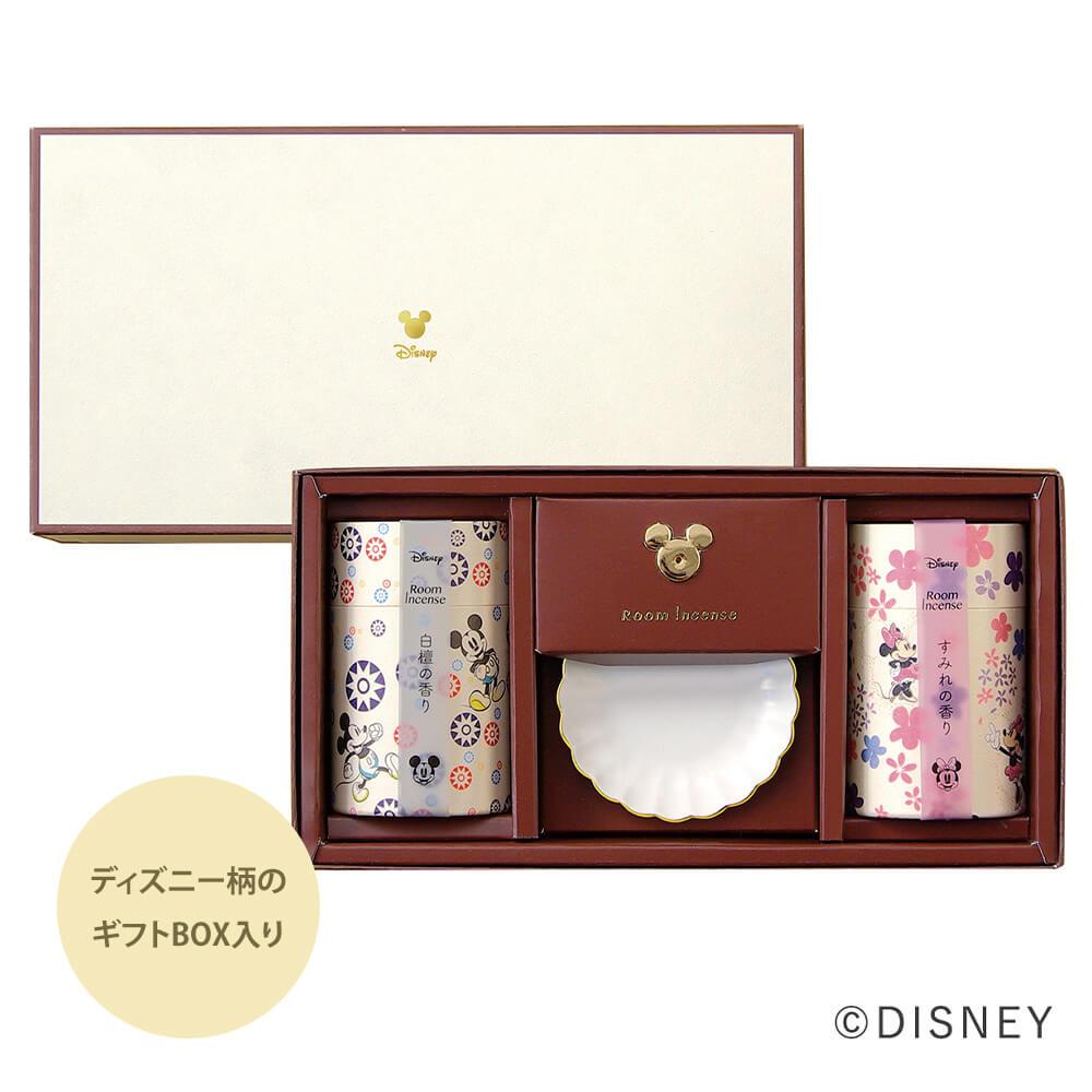 ミッキーとミニーデザインの線香と香皿とミッキーデザインのインセンスホルダー付き