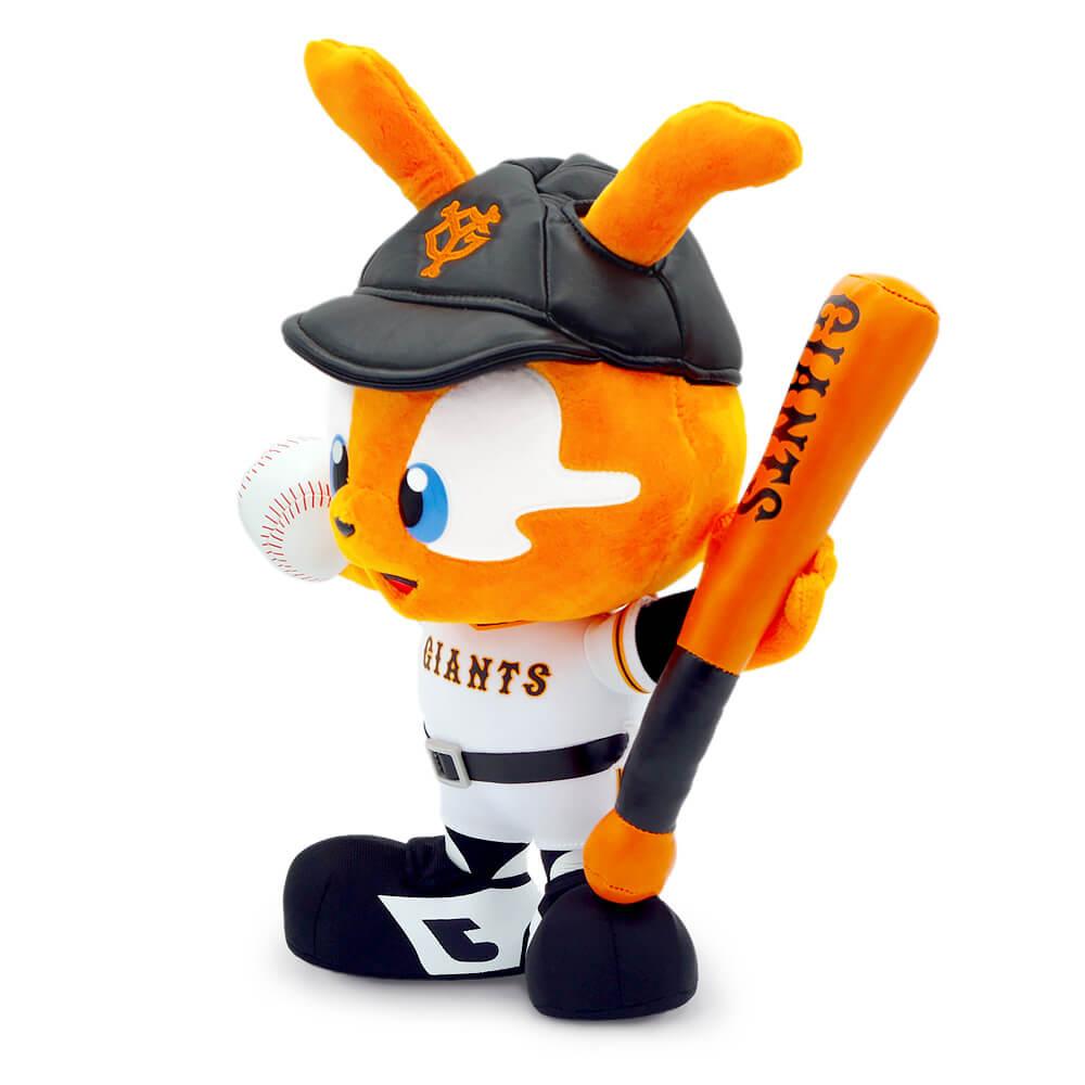 プロ野球チーム・読売ジャイアンツのキャラクター「ジャビット」のバッターぬいぐるみ