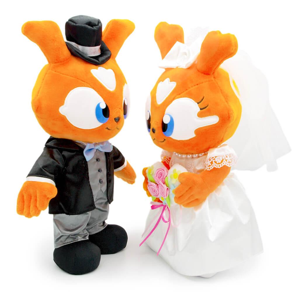 野球好きカップルの結婚祝いや、ウェディングドールに