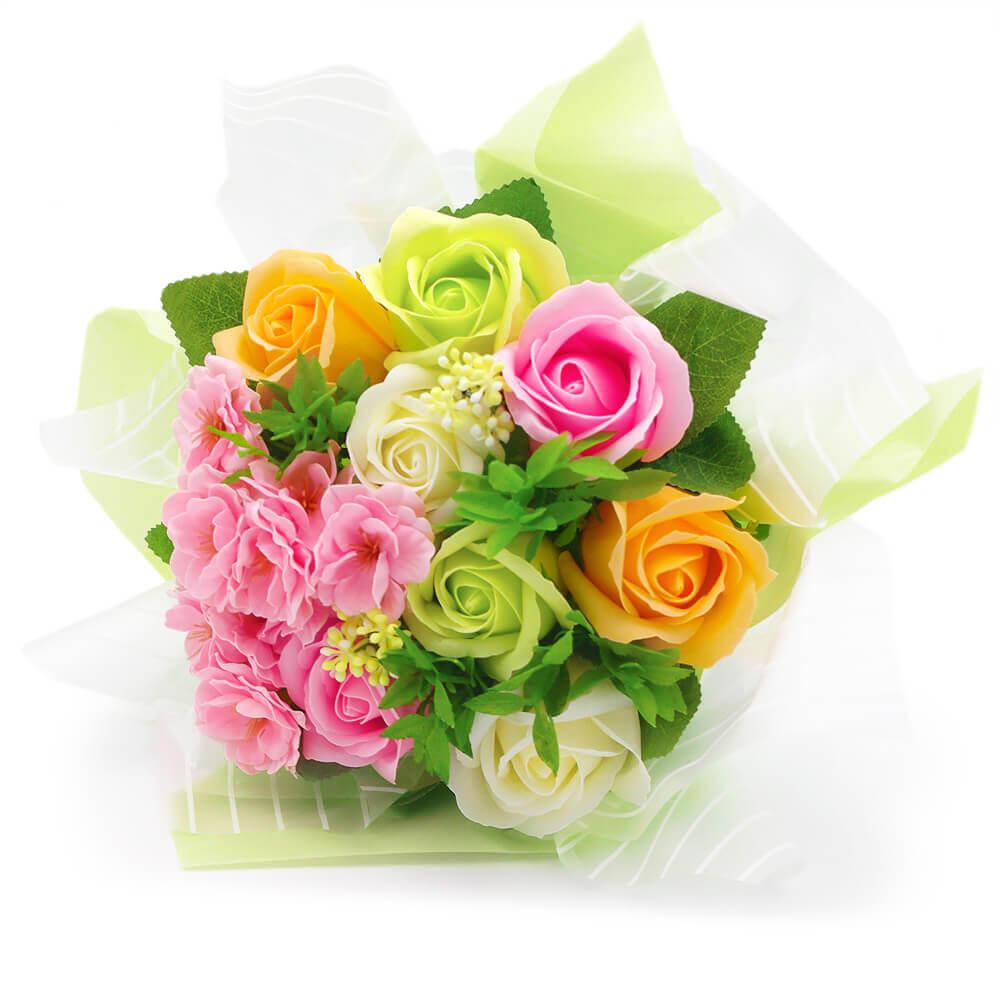 ピンクやグリーンなど色とりどりのお花