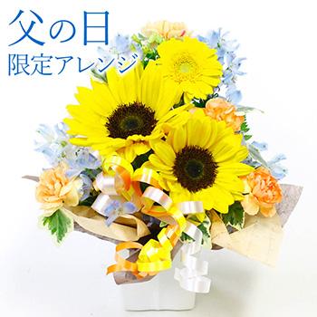 お任せアレンジメント・Lovely・トライアングル【父の日】