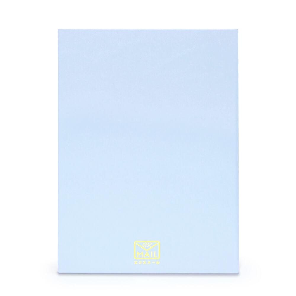 ブルーを基調とした知的で洗練された色合いの電報